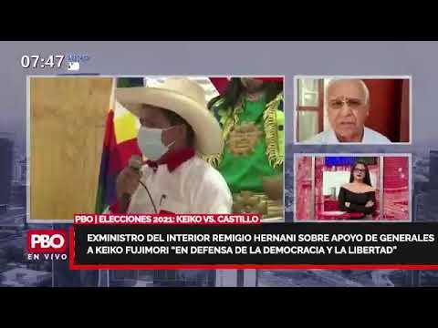 """PBO - Exministro Remigio Hernani sobre APOYO DE GENERALES a KEIKO """"en defensa de la libertad"""""""