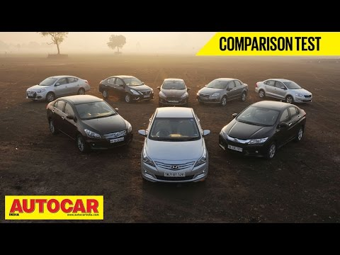 8 Car Showdown | Mid-Size Sedan Comparison Test | Autocar India - Nissan Videos