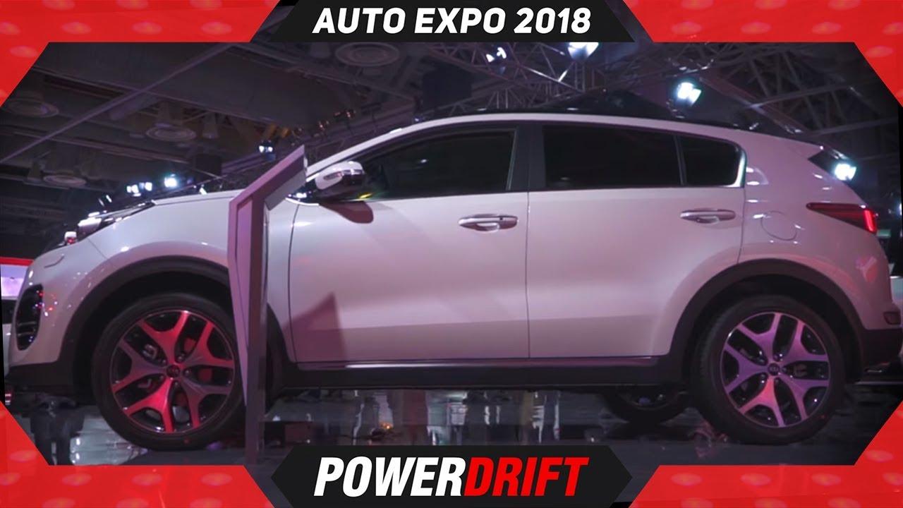 किया स्पोर्टेज @ ऑटो expo 2018 : powerdrift