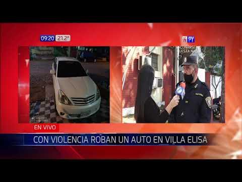Roban vehículo en Villa Elisa