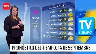 Pronóstico del tiempo: Lunes 14 de septiembre | TV Tiempo