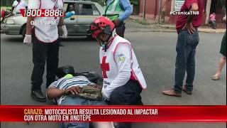 Motociclista resulta lesionado tras ser impactado en Jinotepe – Nicaragua