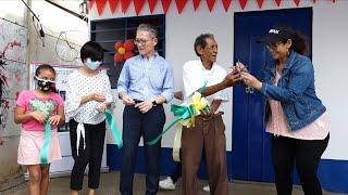 ALMA y Taiwán entregan vivienda a familia del barrio Edgard Munguía