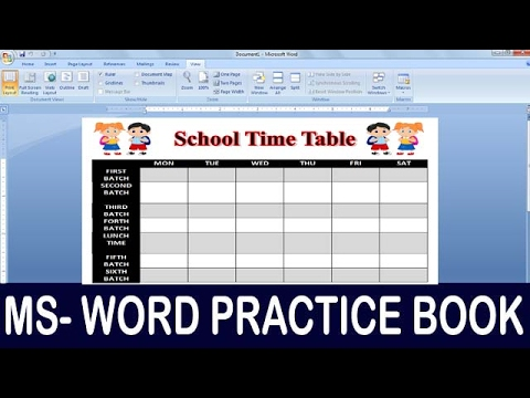 how to make time table in excel