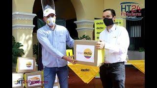 Alcalde Rodolfo Ucrós recibe 4 mil tapabocas donados por Grupo Éxito