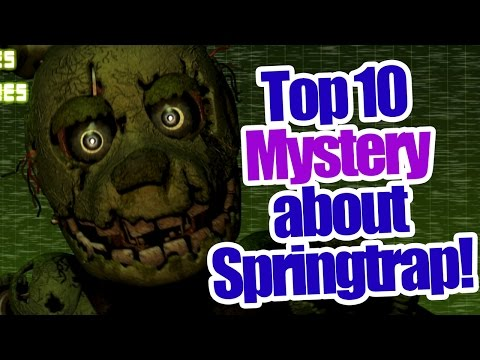 Download Youtube To Mp3 Top 10 Mystery About Springtrap Five Nights At Freddys 3 10s
