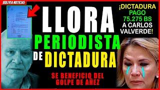 SE HUN-DE PERIODISTA DE DICTA-DU-R4 DE AÑEZ. PAGA-RÒN A VALVERDE 75 MIL BS PARA OCULTAR MA-SA-CR3S