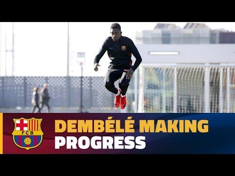 Dembélé continues rehab at Ciutat Esportiva