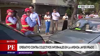 Primera Edición: Realizan operativo contra transporte informal en Javier Prado