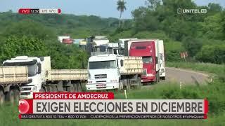 Amdecruz amenaza con bloqueos si no se postergan las elecciones hasta diciembre