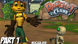 Ratchet and Clank Gameplay Walkthrough Part 1 - Playstation 2 Let's Play