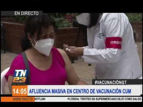 Continúa proceso de vacunación en el CUM