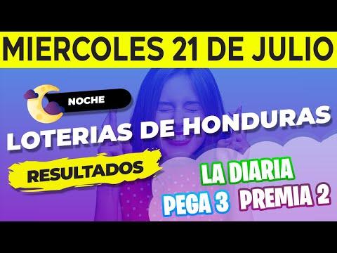 Sorteo 9PM Loto Honduras, La Diaria, Pega 3, Premia 2, Miércoles 21 de Julio del 2021 | Ganador