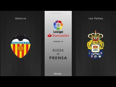 Rueda de prensa Valencia vs Las Palmas