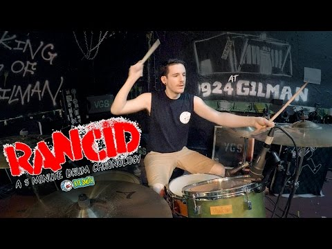 connectYoutube - Rancid: A 5 Minute Drum Chronology - Kye Smith [4K]