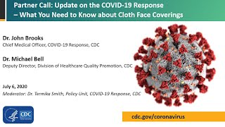 CDC COVID-19 Partner Update: What You Need to Know about Cloth Face Coverings