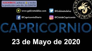 Horóscopo Diario - Capricornio - 23 de Mayo de 2020