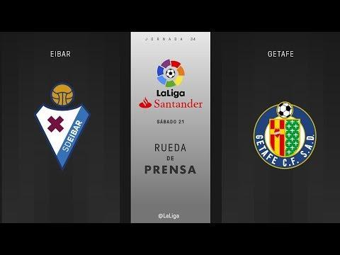 Rueda de prensa Eibar vs Getafe