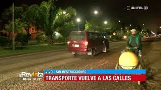 Vehículos circulan sin restricción desde las primeras horas de este lunes en Santa Cruz