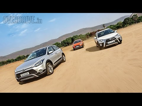 Toyota Etios Cross vs Hyundai i20 Active vs Fiat Avventura comparison review by OVERDRIVE