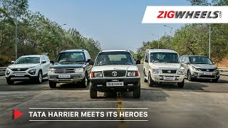 Tata Harrier Meets Its Heroes | Sierra, Sumo, Safari & Hexa! | Feature | Zigwheels