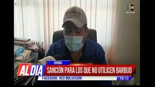 Oruro: Sancionarán a quienes no usen barbijo