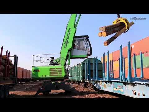 SENNEBOGEN 818 E Mobil - Holzumschlag bei der Ziegler-Group, Deutschland
