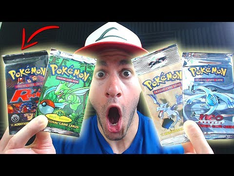connectYoutube - OPENING RARE VINTAGE POKEMON CARDS! (1st Edition)