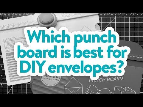 Envelope Punch Board vs. 1-2-3 Punch Board