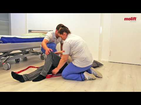 Learn how to lift from the floor to bed with a Molift Smart 150