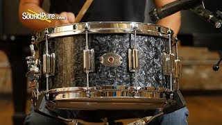 Rogers 6.5x14 Wood Dynasonic Snare Drum-Black Diamond Pearl - Quick 'n' Dirty
