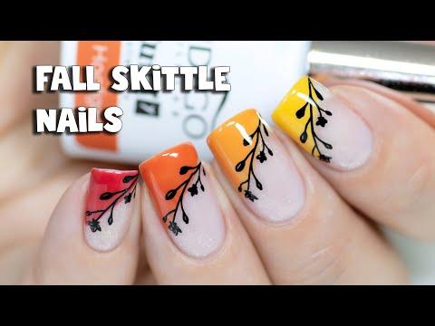 Negative Space Skittle Nail Art | Indigo Nails