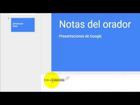 Cómo usar notas del orador en Presentaciones de Google
