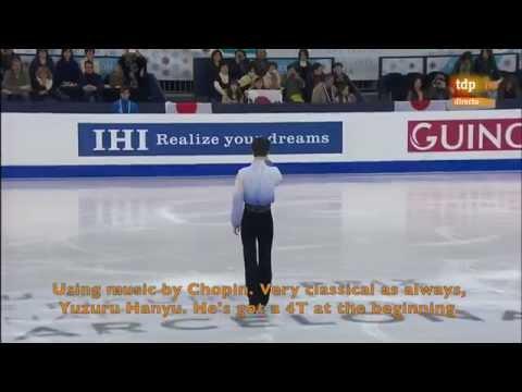 [ENG SUB] Spanish Commentary: Yuzuru Hanyu (JPN) SP - GPF 2014