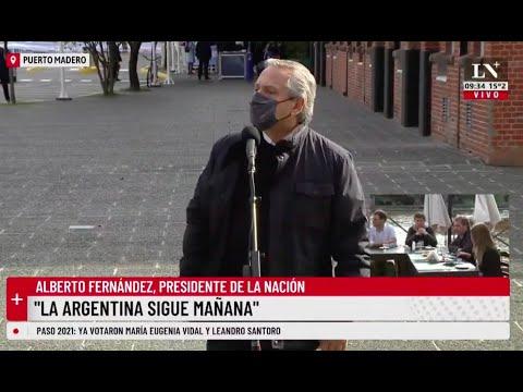 Votó el Presidente Alberto Fernández: La Argentina sigue mañana