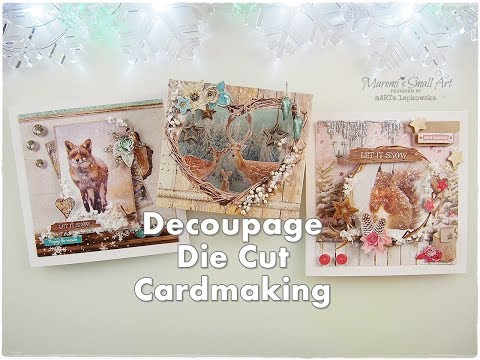 3D Decoupage Ready to Make Die Cut Christmas Cards for Beginners ♡ Maremi's Small Art ♡