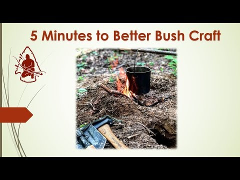 5 Minutes to Better Bushcraft Dakota Fire Hole