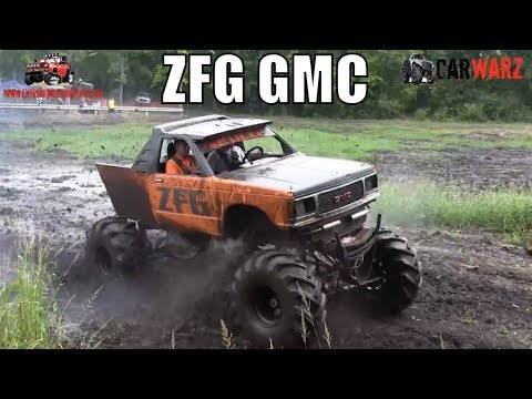 ZFG GMC Mud Truck Mudding At Bentley Lake Road Mud Bog Fall 2018