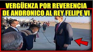 Reverencia de Andronico a la llegada deL Rey Felipe VI de España?Posesión Presidente  Vicepresidente