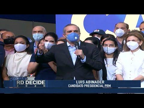 Luis Abinader se Dirige al Pueblo Dominicano - RD DECIDE 2020