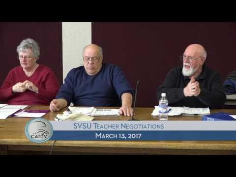 SVSU Teacher Negotiations - 3/13/17