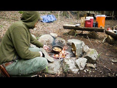 Overnight at Semi Permanent Bushcraft Camp Part 2