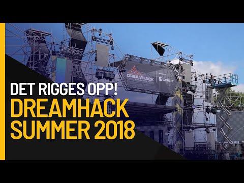 Det rigges til Dreamhack Summer 2018