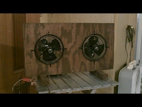 "Homemade ""High Velocity"" Desktop Table Fan! (w/Dual DC Motors!) - Solar Powered! - Full Instr."