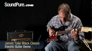 James Tyler Black Classic Electric Guitar Demo