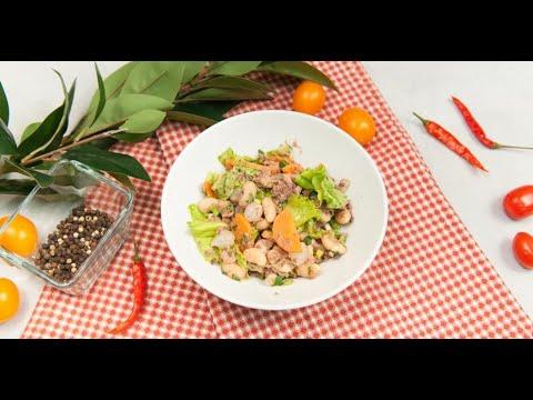 Салат с тунцом и белой фасолью | Ужин Не проблема