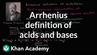 Arrhenius definition of acids and bases