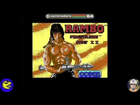 Rambo loader, Commodore 64 - Real por S-Video