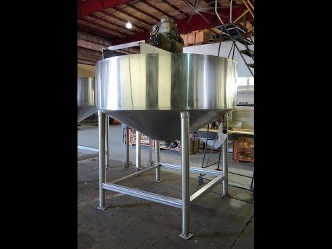 Used- Chester Jensen Dual Motion Cooker-Cooler, 500 Gallon, Model 70N50 - stock # 48705003