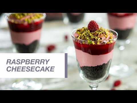 Raspberry cheesecake with Oreo biscuits in a Glass | Food Channel L Recipes